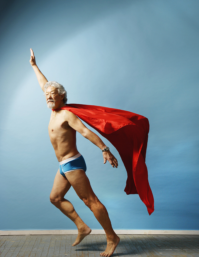 David Suzuki as Superman